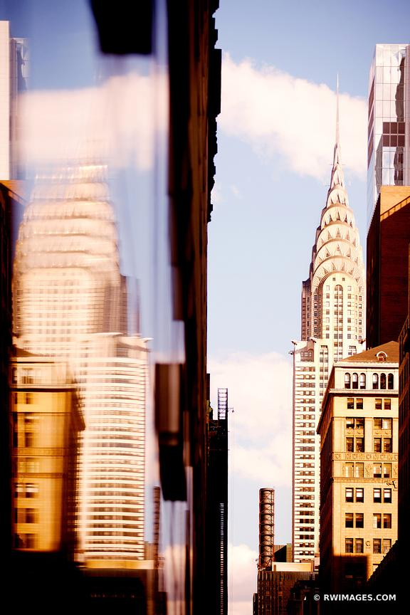 CHRYSLER BUILDING MANHATTAN NEW YORK CITY ARCHITECTURE COLOR VERTICAL