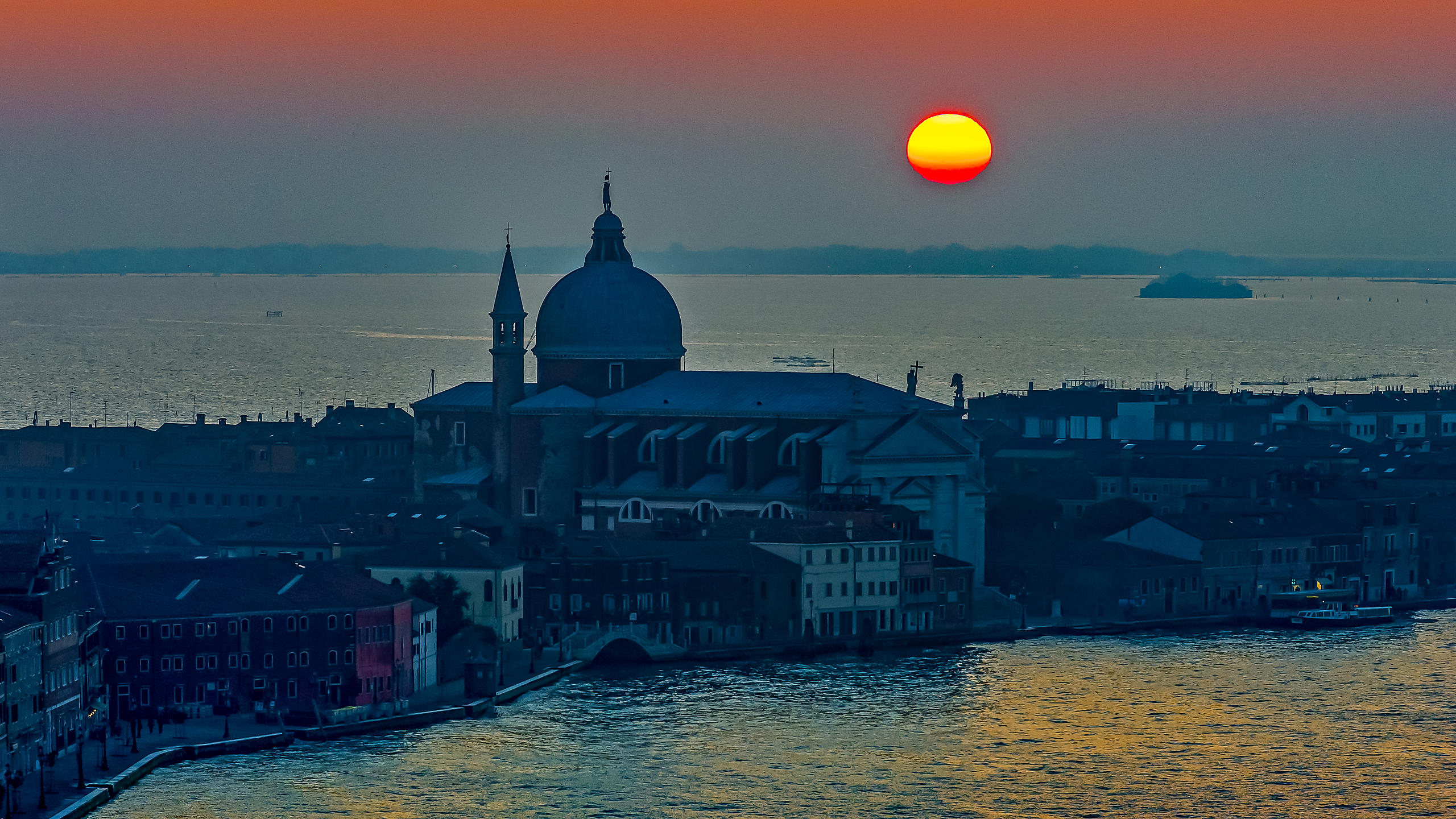 Redentore Church on Giudecca at Sunset, Venice