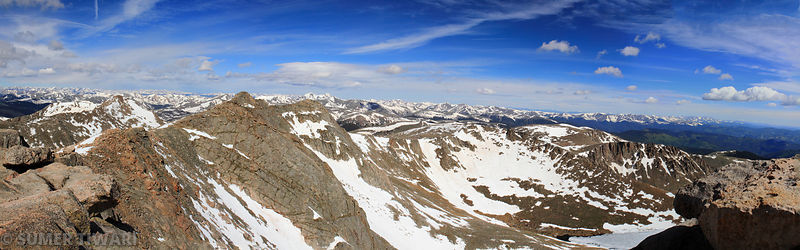 Mt Spalding as seen from Mt Evans' summit