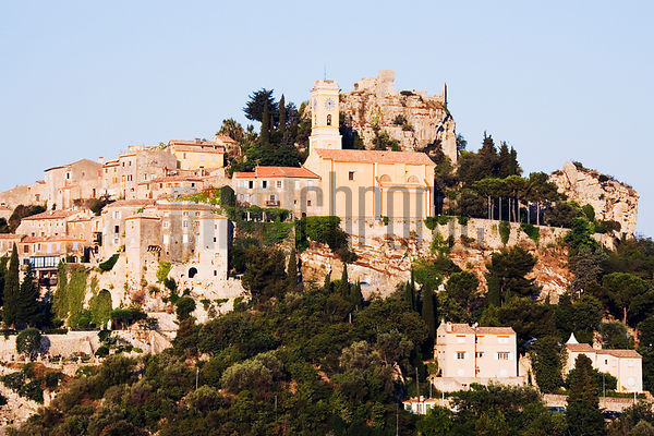 France, Eze, mediaeval town on hill