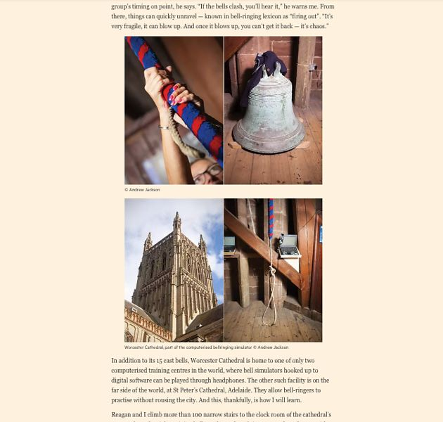 Bell ringers, Gloucester Cathedral