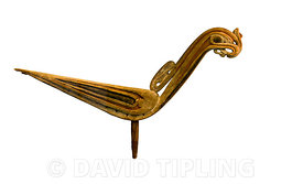 carved decorative motif in the form of a Frigate Bird from the Trobriand Islands Papua New Guinea