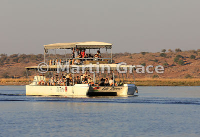 Lily Trotter tourist riverboat on the River Chobe, Botswana
