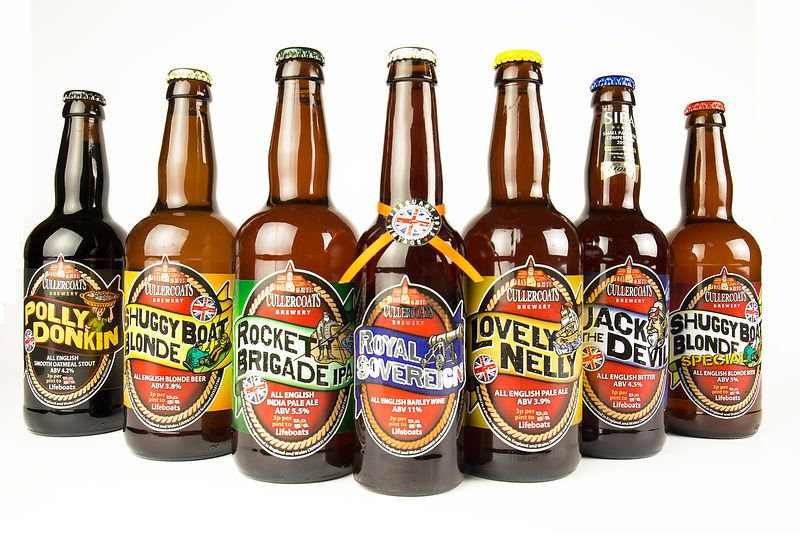 bottled beer from Cullercoats Brewery