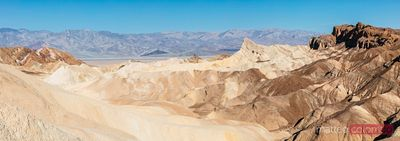 Zabriskie point panoramic, Death valley, USA