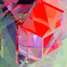 ABSTRACT Hard Edged Tower Poly # 21