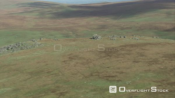 Aerial view of Fur Tor, Dartmoor National Park, Devon, England, UK, October 2015.
