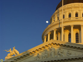State Capitol and Moon #1