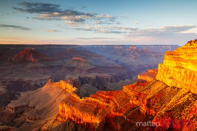 Sunset over Grand Canyon South Rim, USA