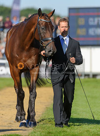 Kevin McNab and CLIFTON PINOT - The final trot up, Burghley Horse Trials 2013.