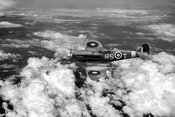 Bob Stanford Tuck's Spitfire Vb black and white