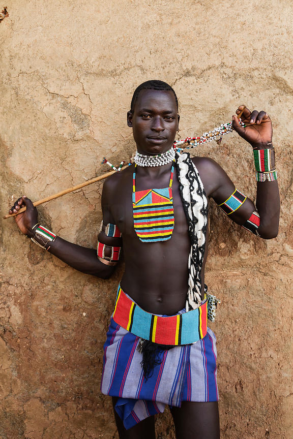 Bana Tribal Man who has Completed Bull Jumping