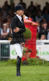 Lucy Jackson - prizegiving ceremony - Land Rover Burghley Horse Trials 2012.