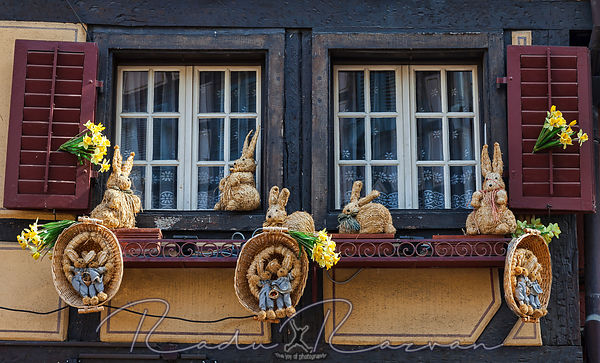 Window with Easter Decoration