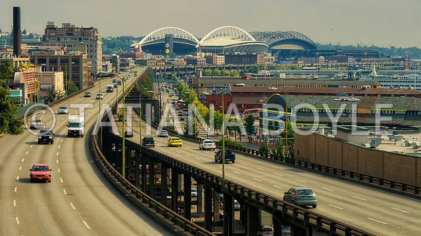 Alaskan Way & Elliott Bay