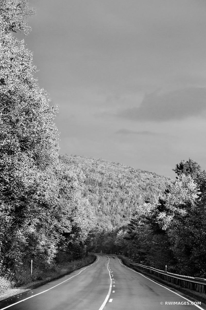KANCAMAGUS HIGHWAY ROUTE 112 WHITE MOUNTAINS NEW HAMPSHIRE BLACK AND WHITE VERTICAL