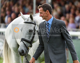 Mark Todd and KILTUBRID RHAPSODY at the trot up, Land Rover Burghley Horse Trials 2018