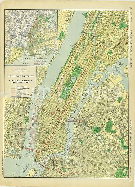 1913 NYC area map (greater New York City including Jersey City)