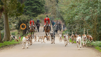 The South Shropshire Hunt at Belvoir Castle 11/3