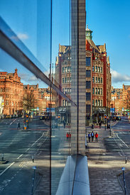 Manchester large city canvas | Reflections of Manchester