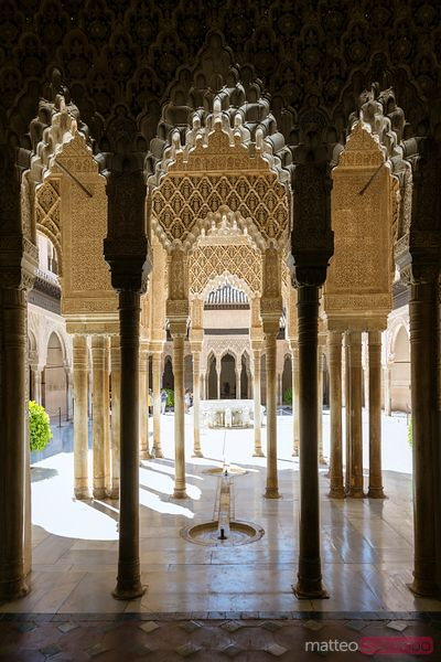 Court of the Lions in the Alhambra palace, Granada, Spain