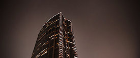 The Montparnasse tower at night