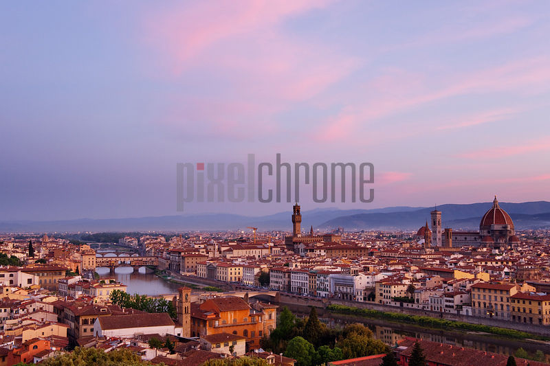 Skyline of Florence at Dawn