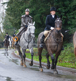 Ruth Atkinson - The Cottesmore Hunt at Belton-in-Rutland 21/12