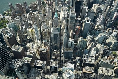 Aerial of New York City Financial District
