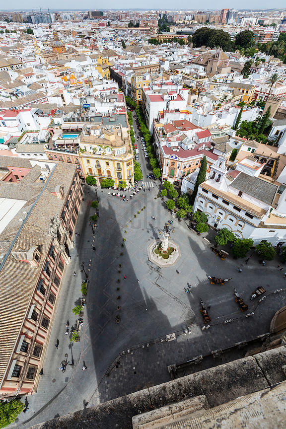 City View of Seville from the top of the Giralda Tower