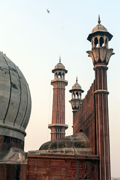 Details of the minarets of the Jama Masjid