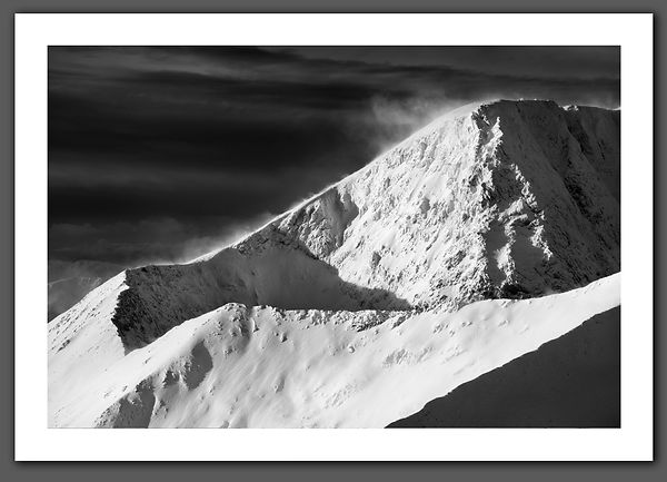 North Face of Ben Nevis Black and White Print BP2247BW2