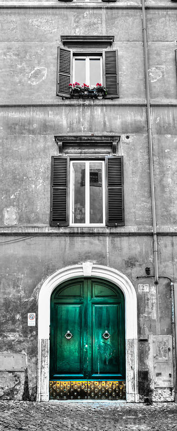 Old building in city of Rome, Italy