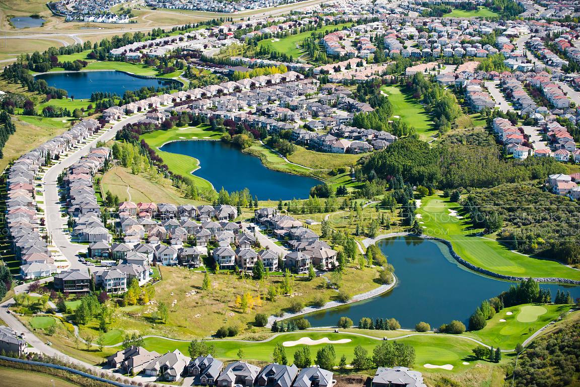 Aerial Photo | The Hamptons Golf Course Community, Calgary