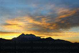 Mt Illimani at sunrise, Cordillera Real, Bolivia