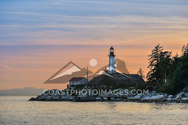 May 8th 2015, Lighthouse Point at Point Atkinson, West Vancouver from the water during a boat cruise on Sunset Bay II. Photo ...