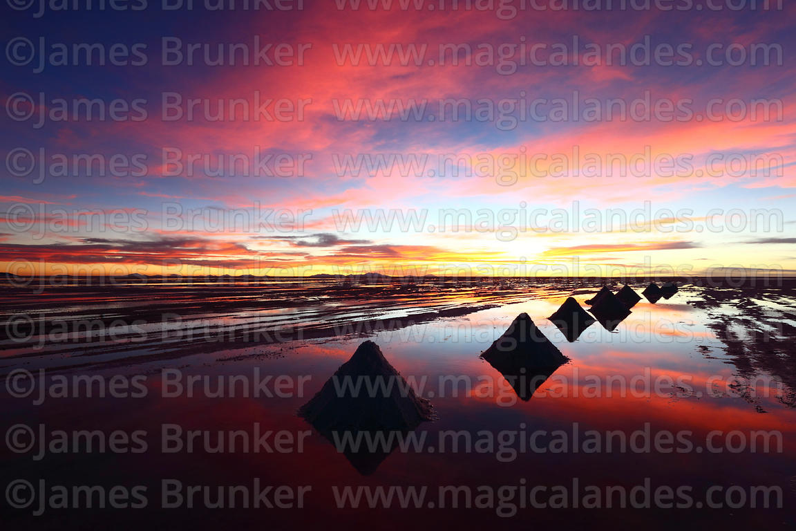 Magical Andes Photography Salt Cones Silhouetted Against