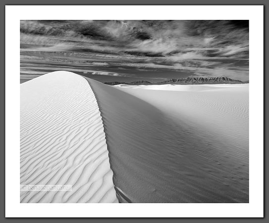 White Sands, New Mexico - Black and White Print