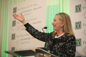 The Worldwide Ireland Funds today presented a Lifetime Achievement Award to The United States Secretary of State, Hillary Cli...