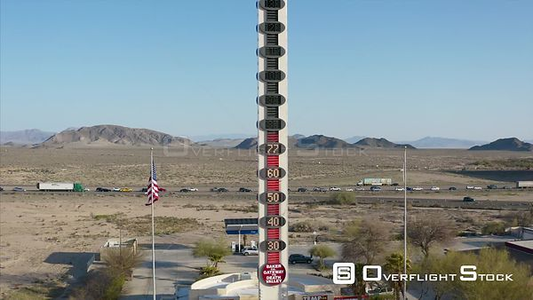 Baker California Home of Worlds Tallest Thermometer and Traffic Jam on I15 Freeway
