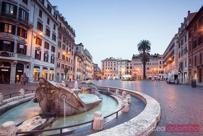 Piazza di spagna at night, Rome, Italy