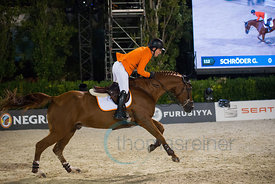 The Dutch Team with Jeroen Dubbeldam, Maikel van der Vleuten, Gerco Schröder and Jur Vrieling win the Furusiyya FEI Nations C...