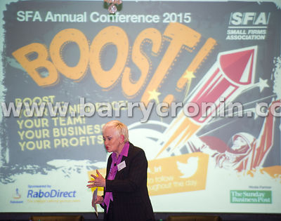 Wednesday 9th June, 2015.Small Firms Association 'Boost' Conference at the Clyde Court Hotel. Pictured is  guest speaker Terr...
