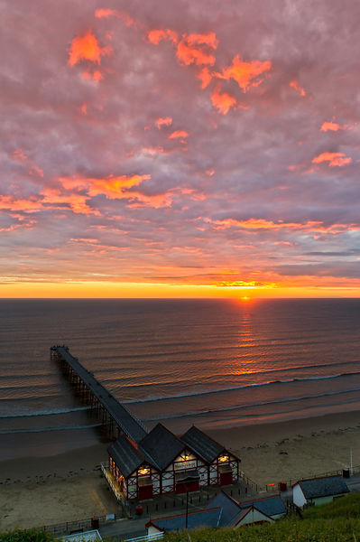 Sunrise at Saltburn portrait
