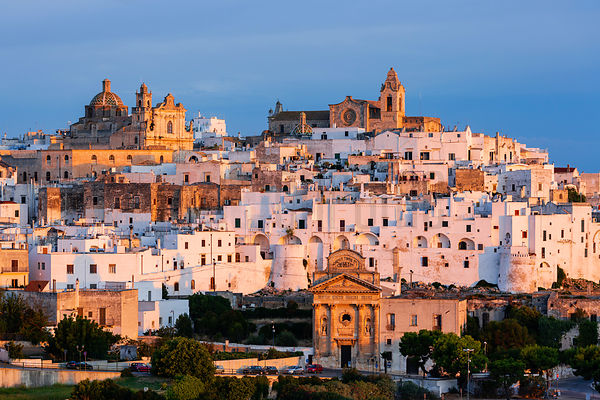 Ostuni Skyline at Sunrise