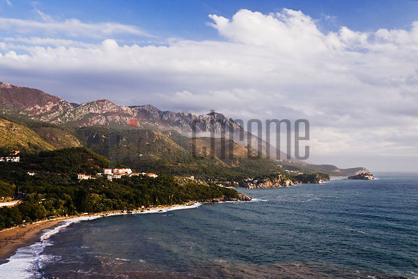 Adriatic Coastline between Budva and Sveti Stefan, Montenegro