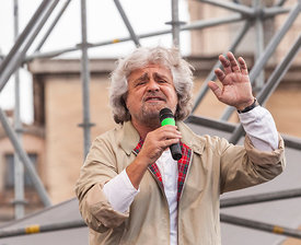 Beppe Grillo and Movimento 5 Star hold rally in Rome in occasion of the European elections.