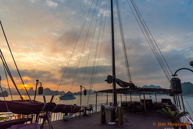 Sunset In Ship Rigging, Ha Long Bay