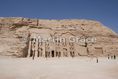 The Temple of Hathor, Abu Simbel, Egypt, built by Ramesses II in honour of Queen Nefertari, his favourite wife