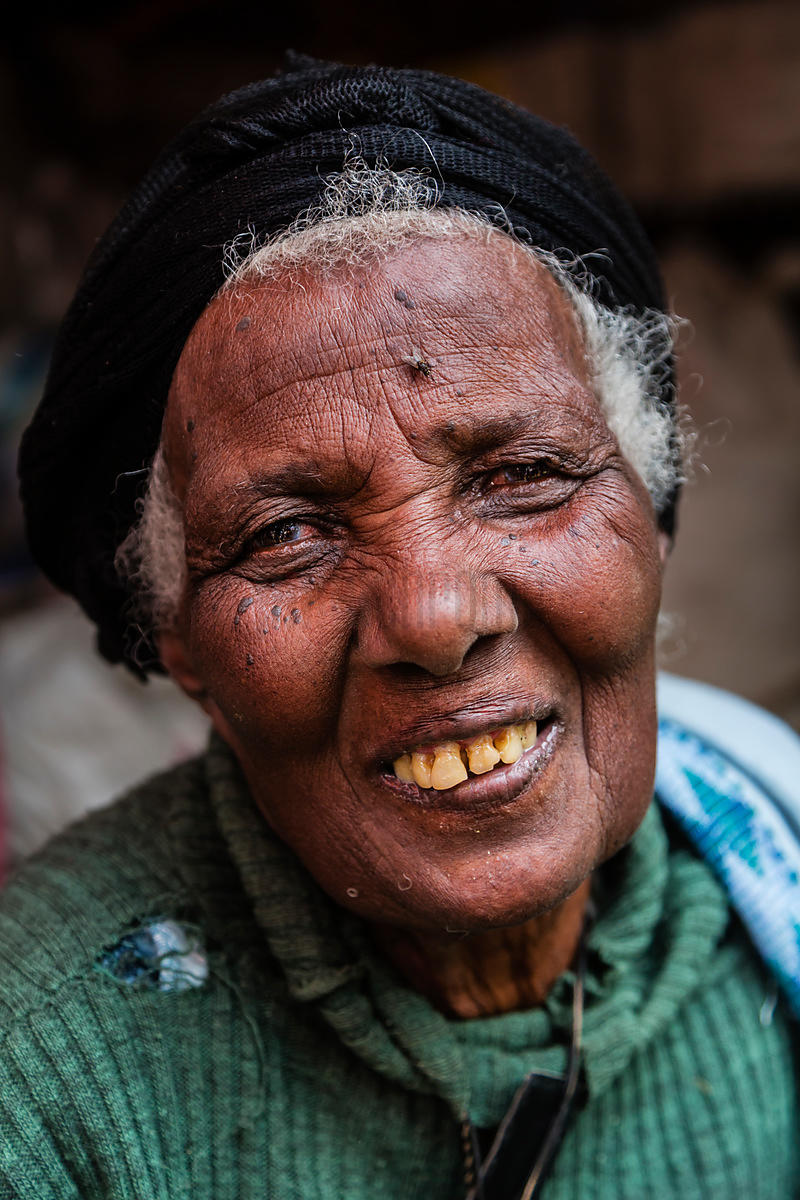 Portrait of an Elderly Woman at the Mercato Open Air Market
